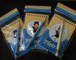 Kit 1 - Mini-l�pis + Bloquinho + Lapela