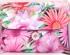 Capa KINDLE /IPAD MINI Floral Pink