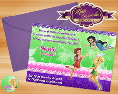 Convite Fadas Disney