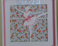 Quadrinho Vasado - Bailarina Floral