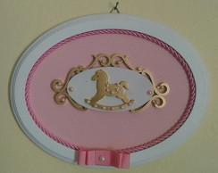 Quadrinho Oval Rosa - Cavalinho