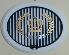 Quadrinho Oval-Coroa Pr�ncipe Marinho