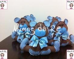 Urso Marrom e Azul - Centro de Mesa
