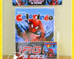 Kit Colorir Homem Aranha