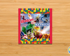 Arte Kit Digital Baton - Lego Heroes