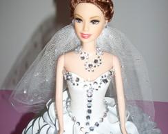 Boneca Com Vestido De Eva - Noiva Morena