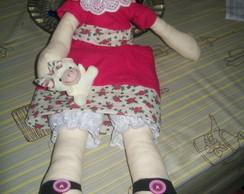 Boneca Joana com ursinho (Dispon�vel)