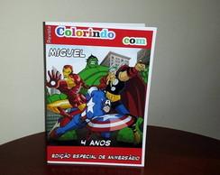 Revista para colorir Os Vingadores