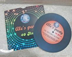Convite Festa Discoteca / Anos 70