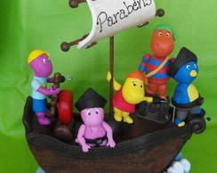 Topo de bolo Backyardigans Pirata