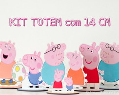 Kit Peppa- Mini Totem em MDF 14 cm