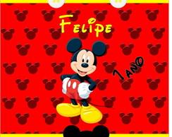 Adesivo batom Mickey