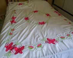 colcha de cama floral!