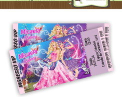 Convite Ingresso Barbie Pop Star
