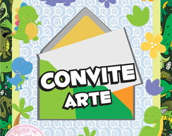 Convite (Arte) - Dinossauros Mini