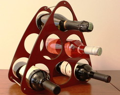 Porta Vinho Triangular
