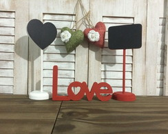 Combo : lousas de mesa + love decor