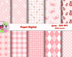 Kit Papel Digital Mollis rosea