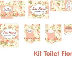 Kit Toilet Floral