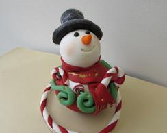 boneco de neve cupcake
