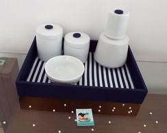 Kit Porcelana Marinho Cl�ssico