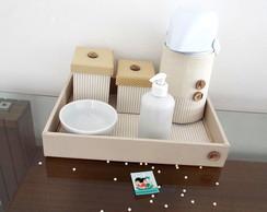 Kit Higiene Coordenado Bege Cl�ssico