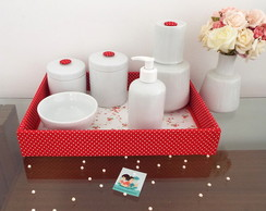 Kit Porcelana Vermelho - Po� & Floral