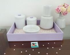 Kit Porcelana Lil�s Po� & Floral