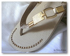 Havaiana Luxo in Gold