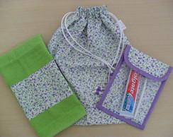 Kit Higiene Escolar (lil�s e verde)