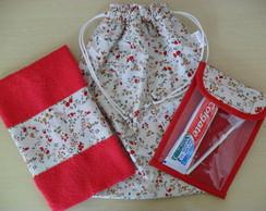 Kit Higiene Escolar (floral vermelho)