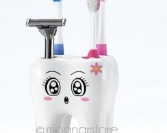 Porta escova em formato de dente