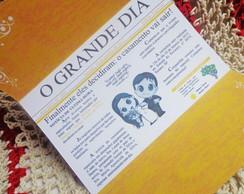Convite de Casamento Jornal FRETE GR�TIS