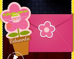 Convite Recorte Flor - Jardim Encantado
