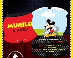 Convite 3D Pop Mickey Mouse recorte