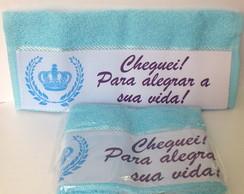 Toalhinha Pr�ncipe- Cheguei Azul