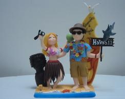 Casal Noivos Havaianos