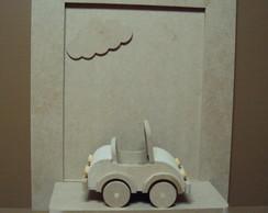 Quadro decora��o bebe com carrinho