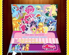 Convite 3D Pop Up My Little Pony