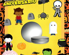Latinha Anivers�rio - Halloween Mini