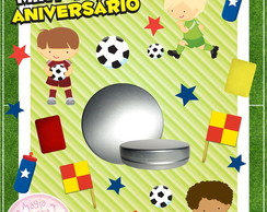 Latinha Anivers�rio Futebol Mini