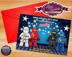 Convite Ninjago