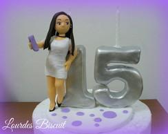 Topo de bolo - 15 anos da Julianna