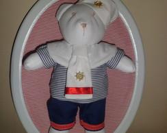 quadrinho oval urso marinheiro