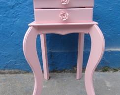 criado pequeno duas gavetas rosa beb�