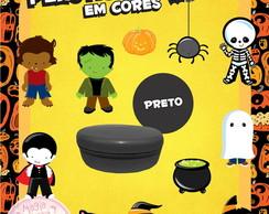 Potinho de Pl�st Cores Halloween Mini