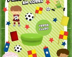 Potinho de Pl�st Cores Futebol Mini