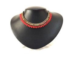 Maxi colar Elegance Vermelho (MX206)