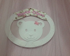 quadrinho oval urso