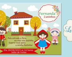 Convite Chapeuzinho Vermelho 2